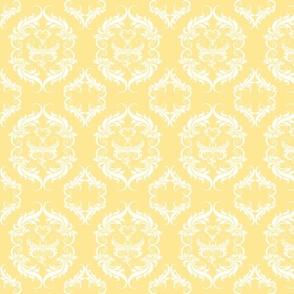 Mellow Yellow Damask