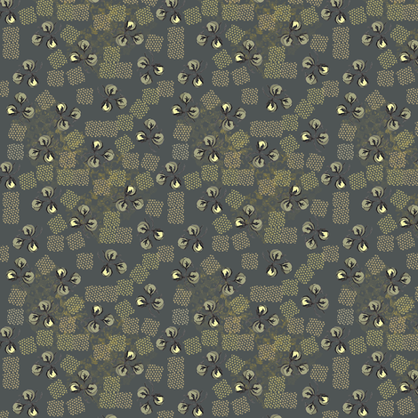 3 pods  - steel grey fabric by petals_fair on Spoonflower - custom fabric