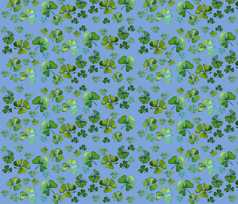 Shamrock Chintz  fabric by golders on Spoonflower - custom fabric
