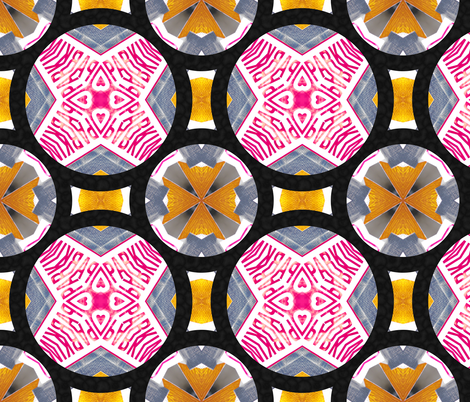 I *HEART* PARKING AT THE TEXTILE CENTER fabric by 1squarepeg on Spoonflower - custom fabric