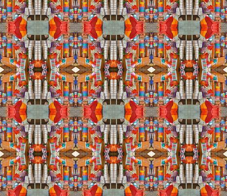 Orange and Silver Goods for Sale fabric by zsmama on Spoonflower - custom fabric