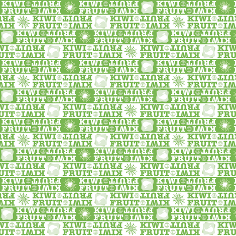 KIWI•FRUIT: stripes 'n' type co-ordinate fabric by pohutukawa on Spoonflower - custom fabric