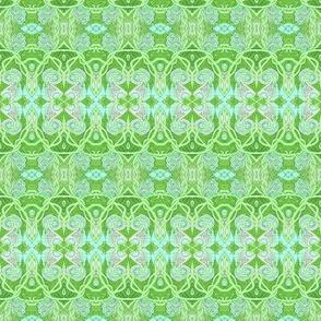 Art Nouveau Paisley horizontal Stripe