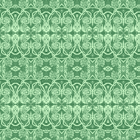 Egyptian Revival Mint fabric by edsel2084 on Spoonflower - custom fabric