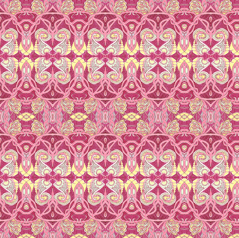 Retro Paisley Hippie Nouveau fabric by edsel2084 on Spoonflower - custom fabric