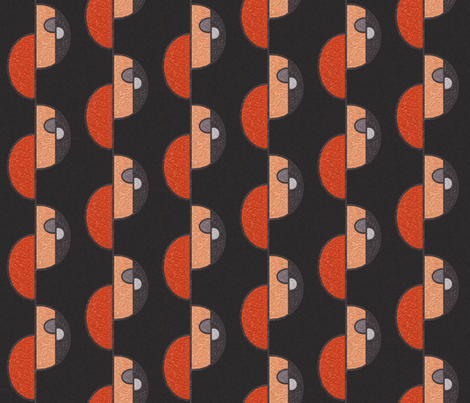 Half circles orange on brown SMALL fabric by su_g on Spoonflower - custom fabric