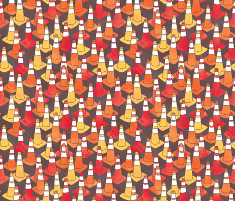 Caution fabric by leighr on Spoonflower - custom fabric