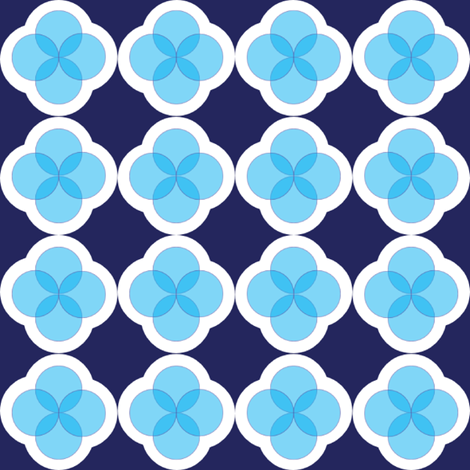 Blue_Circle_Pattern fabric by megankaydesign on Spoonflower - custom fabric