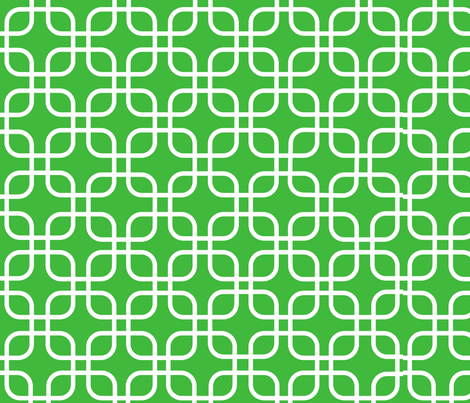 Green_and_White fabric by megankaydesign on Spoonflower - custom fabric