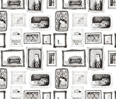 family portrait fabric by mummysam on Spoonflower - custom fabric