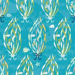 Under the Water - kelp teal