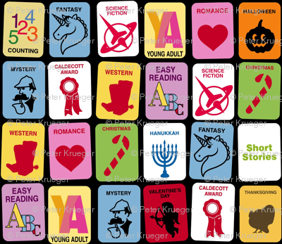 Library Genre Stickers