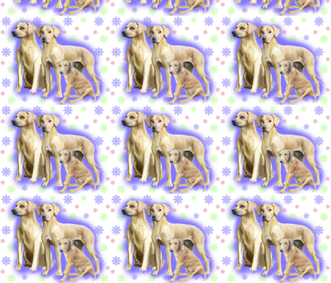 Rhodesian Ridgeback repeating fabric by dogdaze_ on Spoonflower - custom fabric