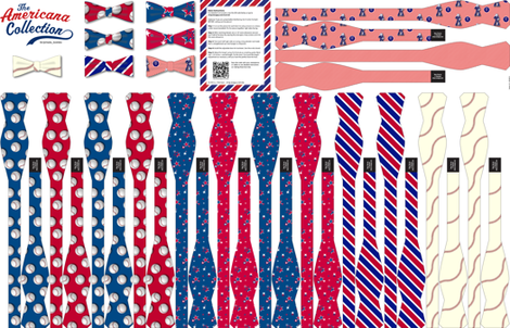 Americana Collection: 7 DIY Bow-Ties fabric by lavaguy on Spoonflower - custom fabric