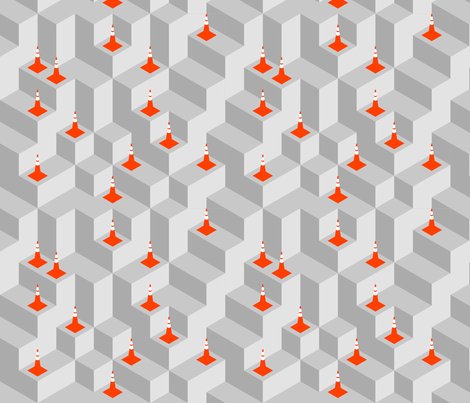 Cones on Drying Concrete fabric by margotten on Spoonflower - custom fabric