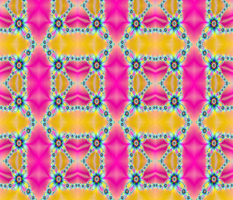 pink and gold flower fabric by krs_expressions on Spoonflower - custom fabric