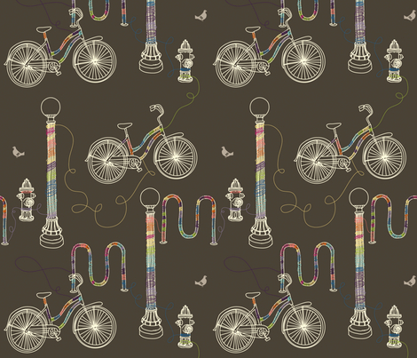 Yarnbombing fabric by jenimp on Spoonflower - custom fabric