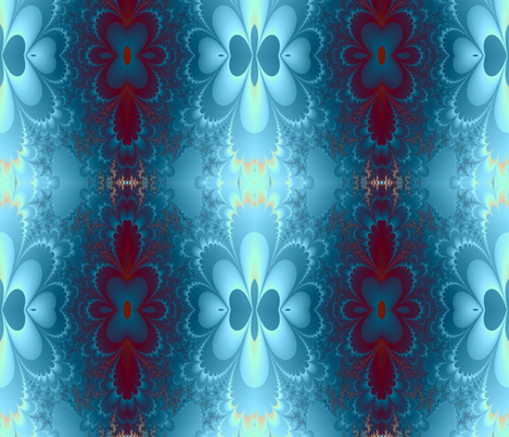 petals blue fabric by krs_expressions on Spoonflower - custom fabric