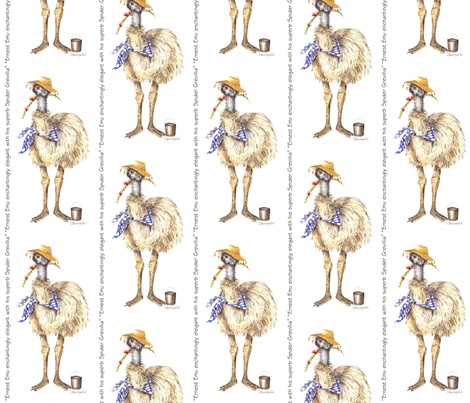 ERNEST_EMU_copy fabric by sandrahopf on Spoonflower - custom fabric
