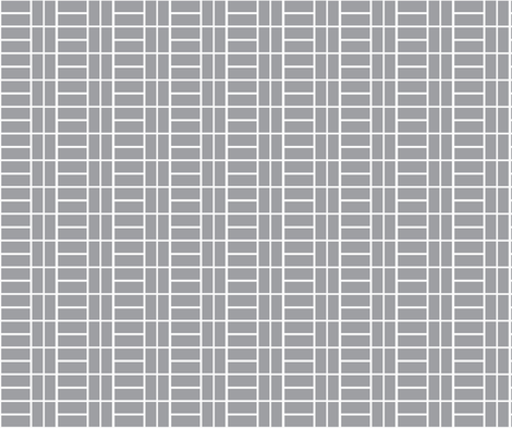 grey brick fabric by littlebeardog on Spoonflower - custom fabric