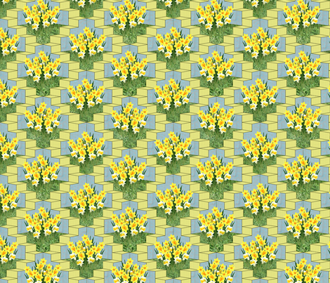 Urban Daffodils fabric by glanoramay on Spoonflower - custom fabric