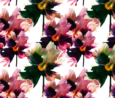 inky_flowers fabric by michellesmith on Spoonflower - custom fabric