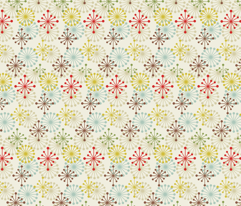 Spark / Cream fabric by hoodiecrescent&stars on Spoonflower - custom fabric