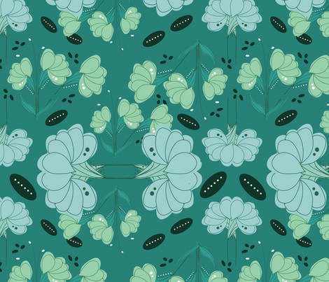 Art Nouveau fabric by michellesmith on Spoonflower - custom fabric