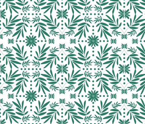 final_oliveleafpattern fabric by michellesmith on Spoonflower - custom fabric