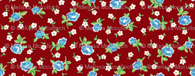 KC ditsy floral red