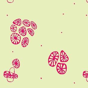 Coral Ditsy Candy Lemon