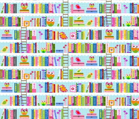Natalie's Library fabric by natitys on Spoonflower - custom fabric
