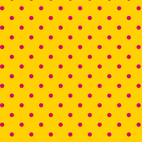 Pink Polka Dots on Yellow fabric by stitchwerxdesigns on Spoonflower - custom fabric