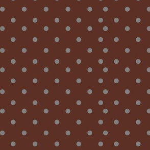 Green Polka Dots on Pink