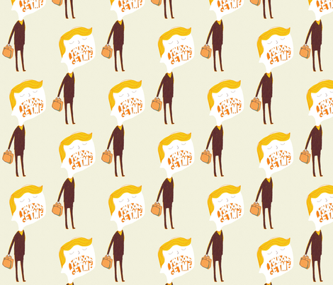 you dont get me fabric by mummysam on Spoonflower - custom fabric