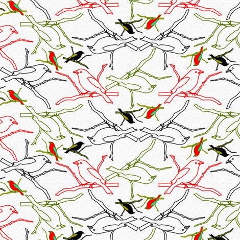 Tropical Birds fabric by mag-o on Spoonflower - custom fabric