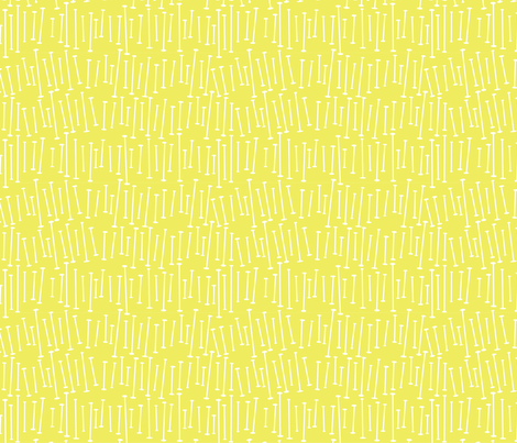 yellow baton fabric by whimsiekim on Spoonflower - custom fabric