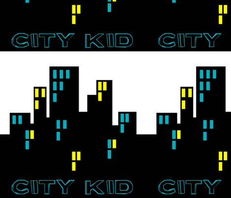 CityKidBuildings fabric by tee_rific_tots on Spoonflower - custom fabric