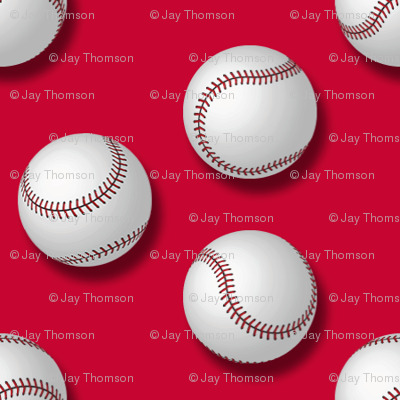 Baseballs on Red