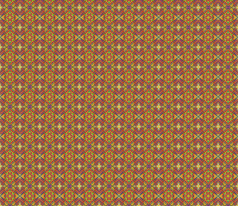Tile weave yellow orange small