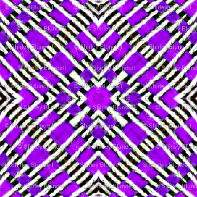 Tile weaving in purple.