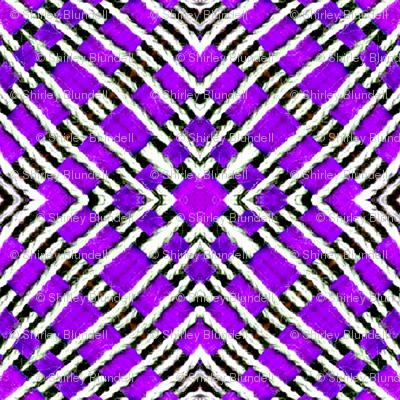 Tile weaving in purple.