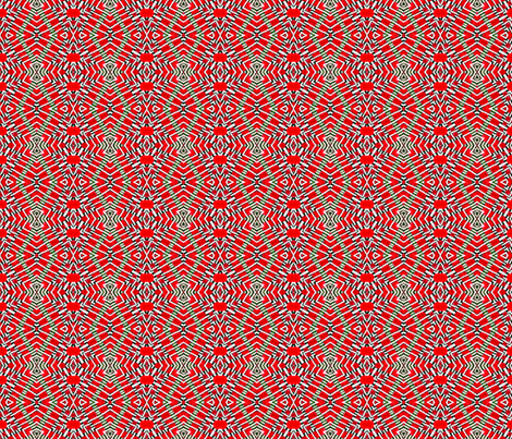 Tile weaving in red. fabric by koalalady on Spoonflower - custom fabric