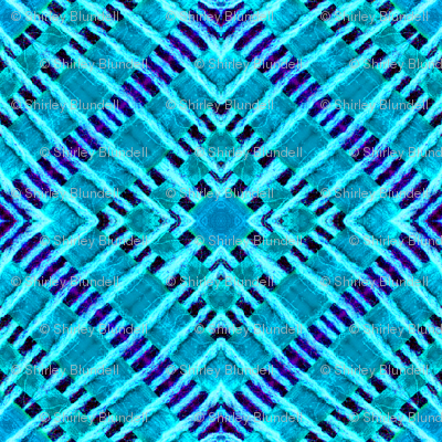Tile weave in turquoise.