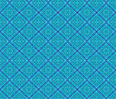 Tile weave in turquoise. fabric by koalalady on Spoonflower - custom fabric