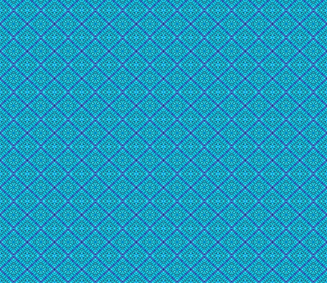 Tile weaving in Turquoise blue,small size fabric by koalalady on Spoonflower - custom fabric