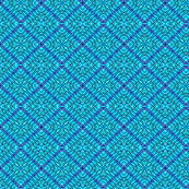 Tile weaving in Turquoise blue,small size