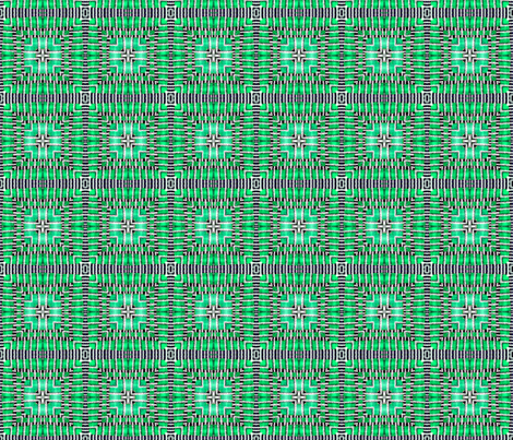 tile-weave_aqua_green fabric by koalalady on Spoonflower - custom fabric