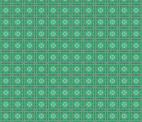 tile-weave_aqua_green_small fabric by koalalady on Spoonflower - custom fabric