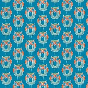 Owl bright blue